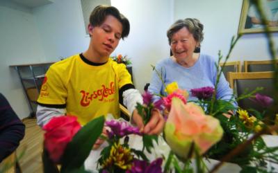 Skapte glede med blomster