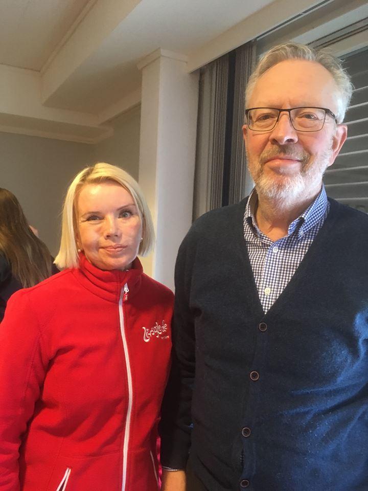 Livsgledekonsulent Lena Klingan og rådmann Ole Kristian Severinsen