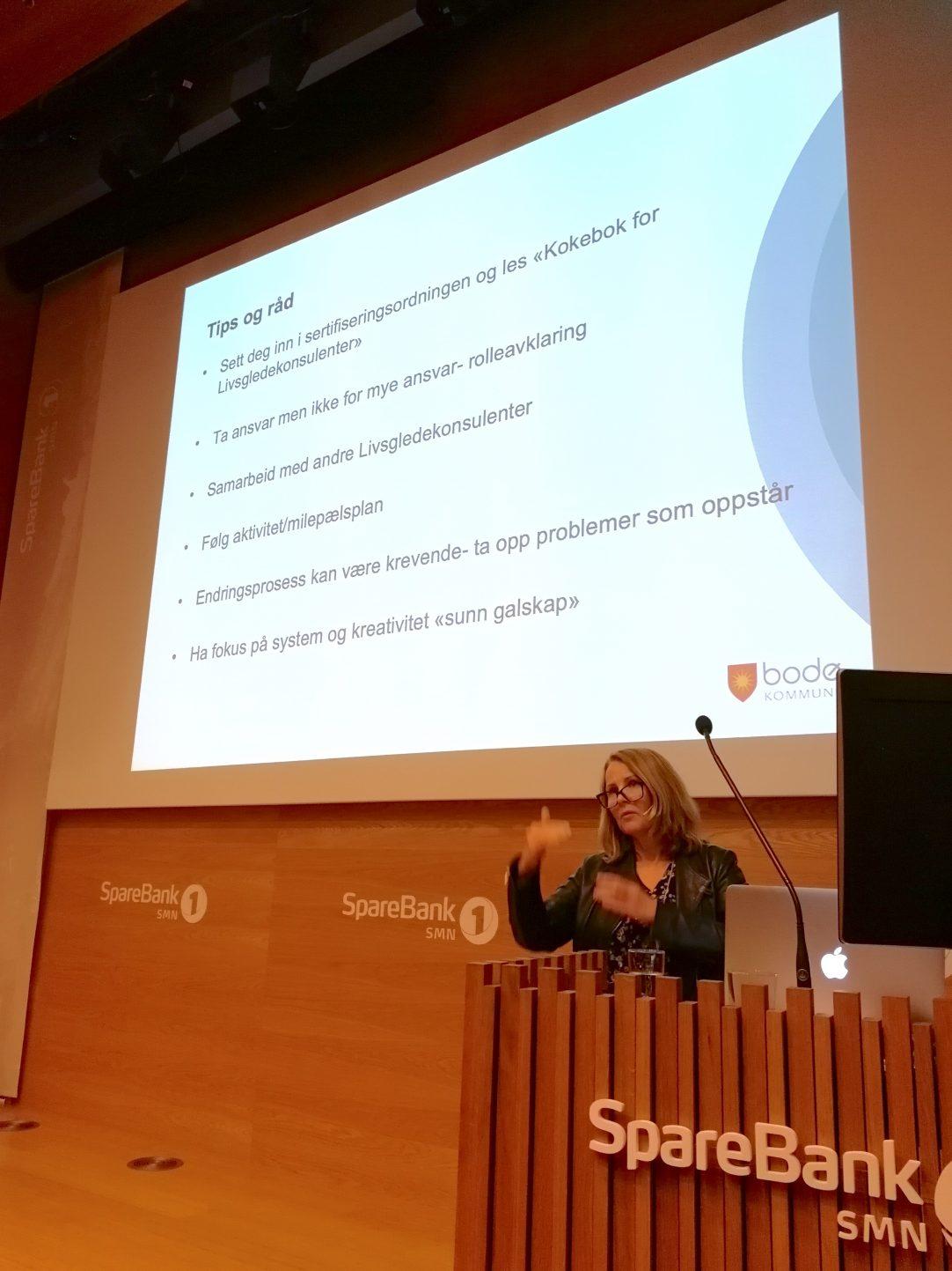 Åse Bente Mikkelborg, livsgledekonsulent i Bodø, fortalte som sine erfaringer