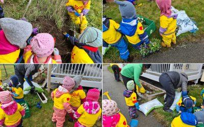 Korona-pandemien stoppet ikke Grønn avdeling i Husby barnehage fra å gjøre noe fint for de eldre på sykehjemmet i nærmiljøet