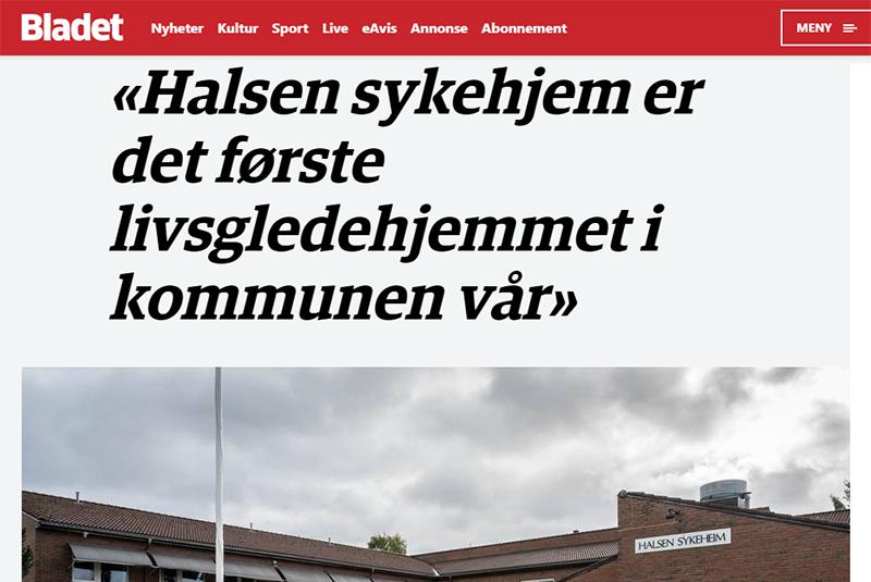«Halsen sykehjem er det første livsgledehjemmet i kommunen vår»