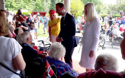 Kronprinsparet besøkte Grimstad