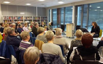 Prøysenstund på Fevik bibliotek