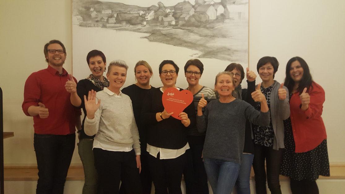 Inderøyheimen er sertifisert som Livsgledesykehjem!