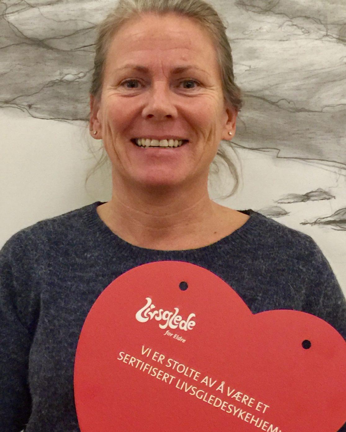 Trine-Lise Espe, hjelpepleier i livsgledegruppa på Inderøyheimen