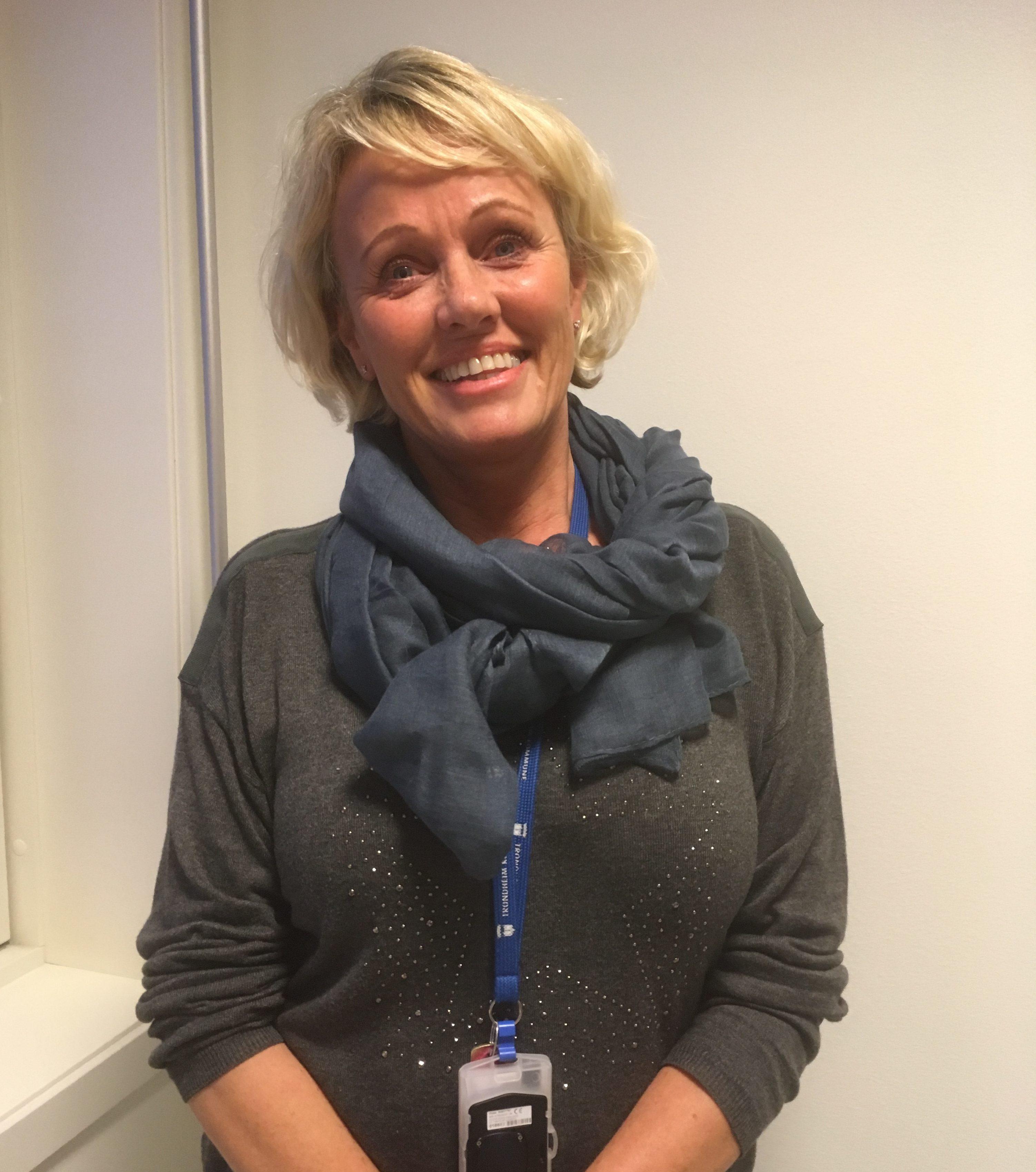 """Enhetsleder Trine Arntsen ved """"Fikleforklær"""" på Valentinlyst helse- og velferdssenter"""