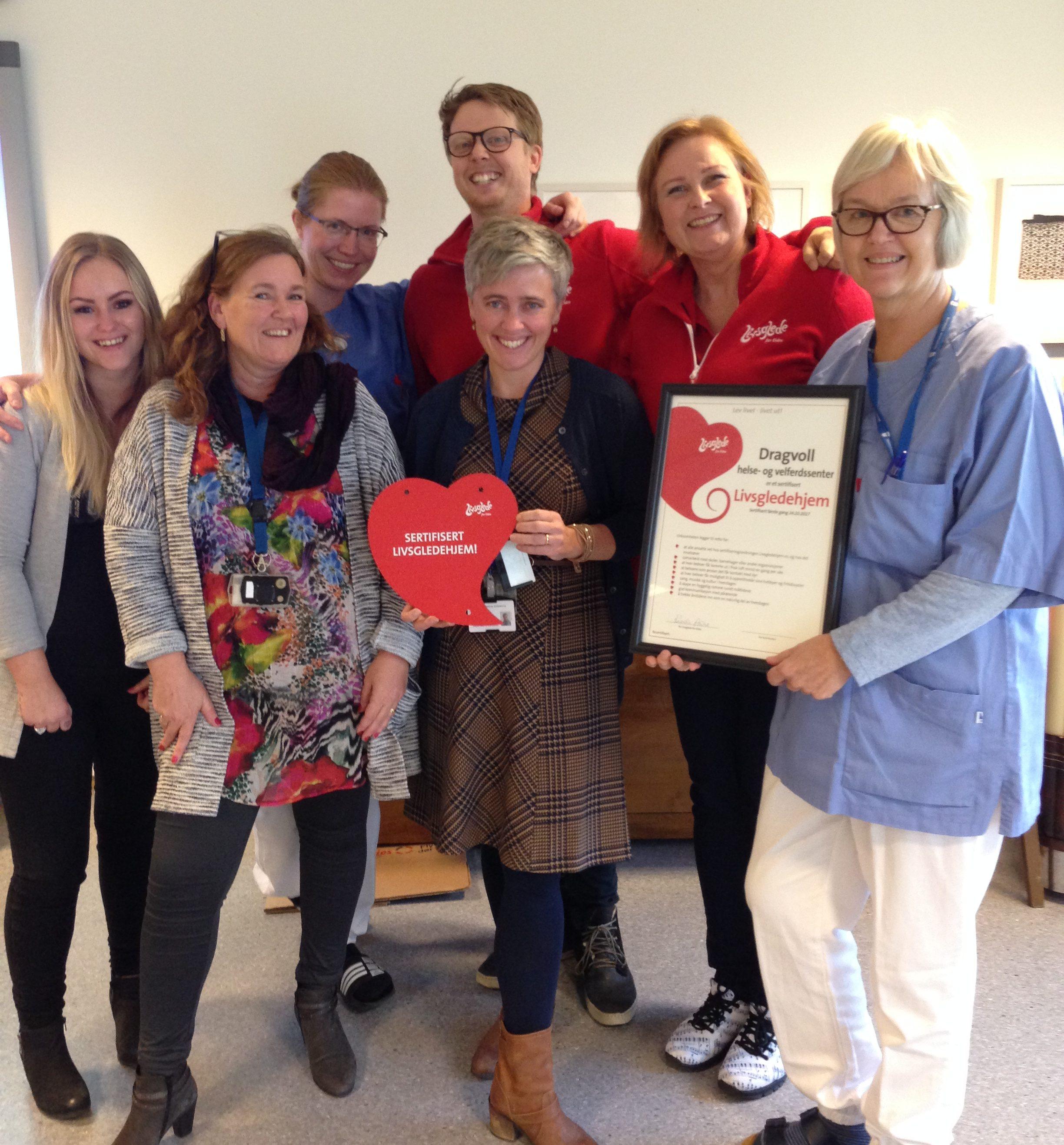 Dragvoll helse- og velferdssenter i Trondheim sertifisert som Livsgledehjem 24. oktober