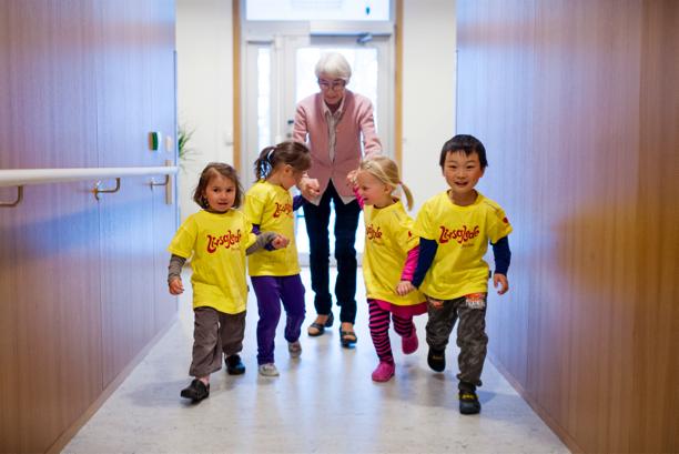 Ladesletta barnehage: Løpe i gangen