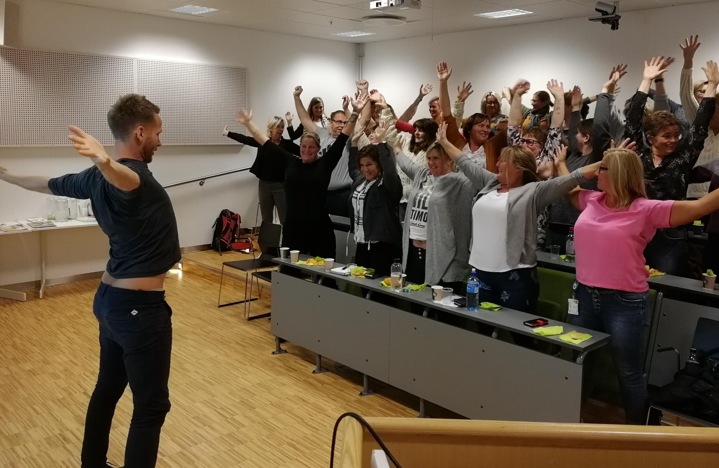 Knebøy og trim med livsgledekonsulent i Vestre Slidre, Jan Tore Vik.