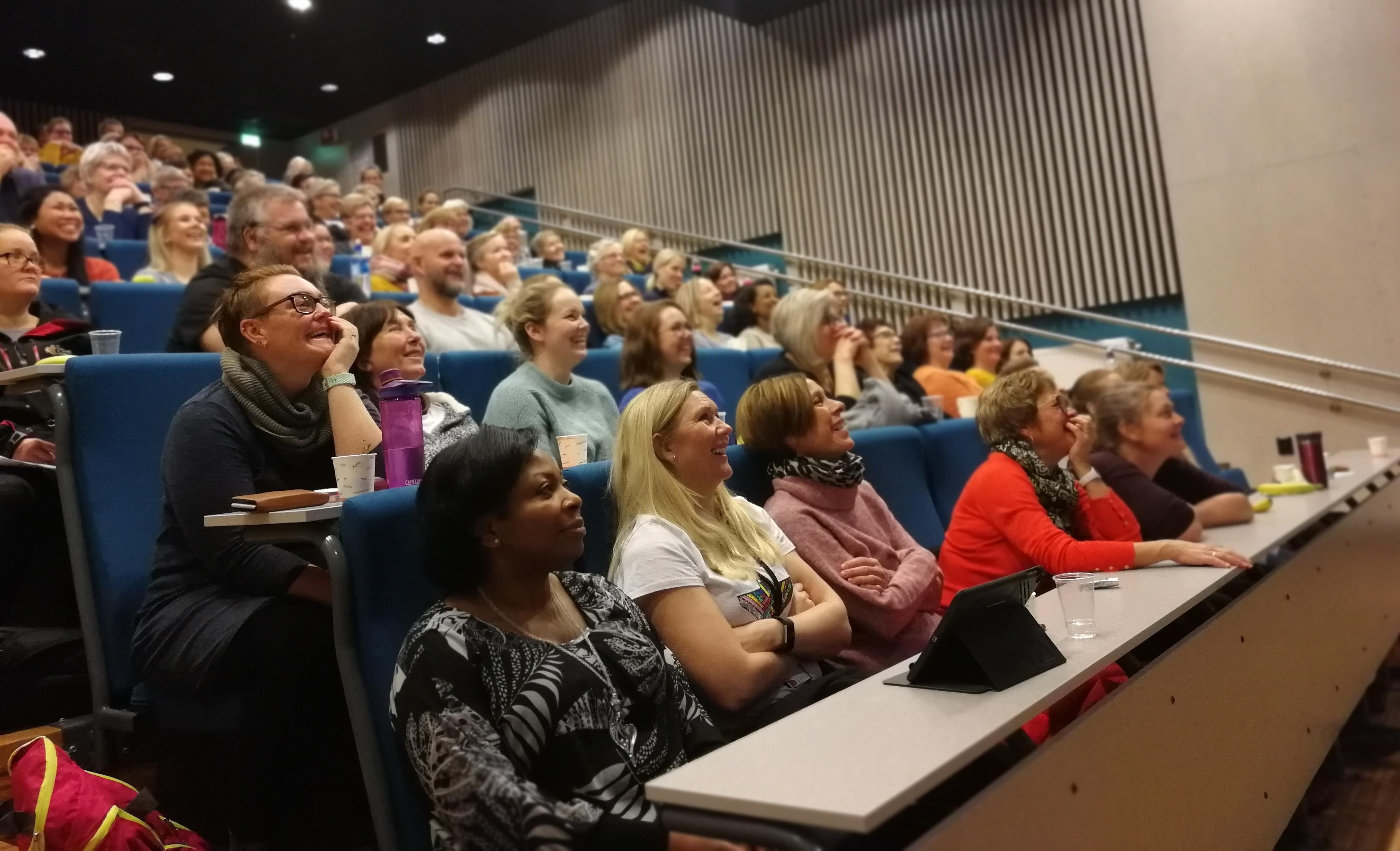 Et lydhør og interessert publikum