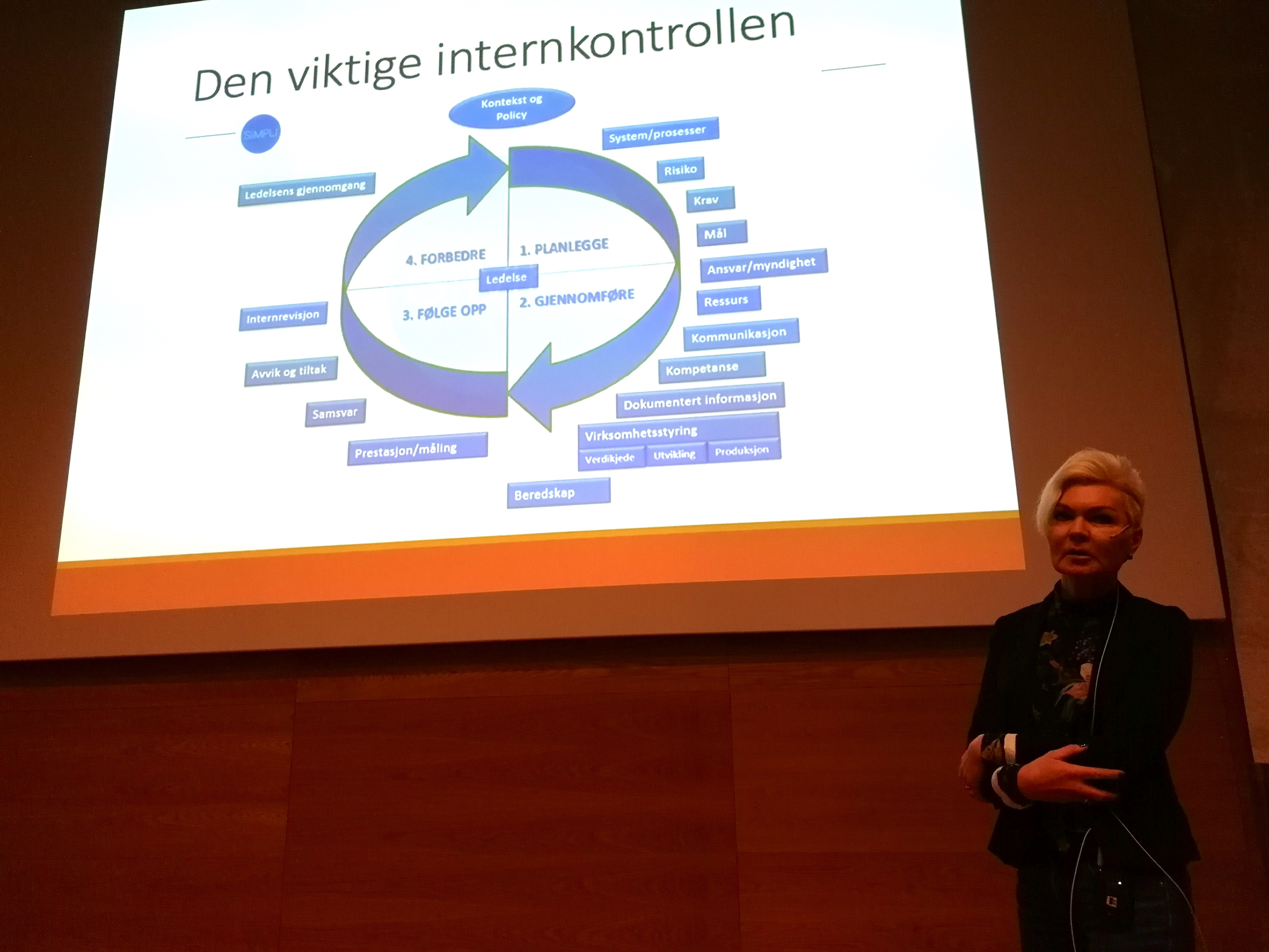 Siri Ramberg Stav, seniorrådgiver ved Fylkesmannen i Trøndelag, dro paralleller mellom Livsgledehjem og Demings sirkel for forbedringsarbeid